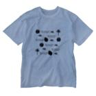奄美の生き物応援隊のクロウサギ&ジネズミ Washed T-shirts