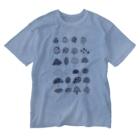 オガサワラミチの様々なきのこ Washed T-shirts