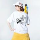 yukitoのHWB Washed T-shirtsの着用イメージ(裏面)