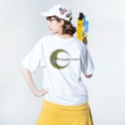 NOMAD-LAB The shopの月下美人(Beautiful woman) Washed T-shirtsの着用イメージ(裏面)
