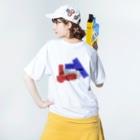 竹下キノの店の徹頭徹尾 Washed T-shirtsの着用イメージ(裏面)