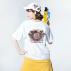 DRAGNET BRANDのファイアサークルDRAGNET Washed T-Shirtの着用イメージ(裏面)