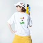 marikiroのTS initial Washed T-shirtsの着用イメージ(裏面)
