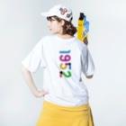 marikiroの1952_西暦 Washed T-shirtsの着用イメージ(裏面)