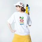 marikiroの2011_西暦 Washed T-shirtsの着用イメージ(裏面)