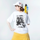 J. Jeffery Print Galleryのトワルドジュイ Toile de Jouy Washed T-shirtsの着用イメージ(裏面)