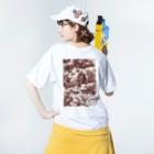 J. Jeffery Print Galleryのトワルドジュイ Toile de Jouy Washed T-shirtsの着用イメージ(裏面)