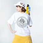 GomezDurms.の蕎麦厨房 岩戸屋 Washed T-shirtsの着用イメージ(裏面)