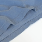 ohkamiのohkami お花ブルー Washed T-ShirtEven if it is thick, it is soft to the touch.