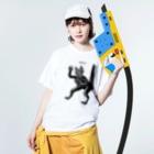 STUDIO KIKUCHIのネコ Washed T-shirtsの着用イメージ(表面)