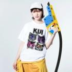 sawallowのKijitora KISS Washed T-shirtsの着用イメージ(表面)