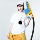 ひねもす屋 2号店の奄美野黒兎 Washed T-shirtsの着用イメージ(表面)