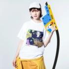 Lichtmuhleの戦うモルモット Washed T-shirtsの着用イメージ(表面)