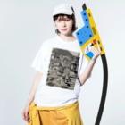 PURIPURI29のどーろ Washed T-shirtsの着用イメージ(表面)