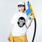 zukkyzukkyのAPE HEART Washed T-shirtsの着用イメージ(表面)