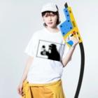 irosocagoodsのチンパンジー×けん玉 Washed T-shirtsの着用イメージ(表面)