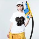 amasariの花火 Washed T-shirtsの着用イメージ(表面)