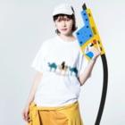 甘津 さえ(Amatsu Sae)のラクダクンたち Washed T-shirtsの着用イメージ(表面)