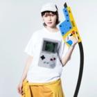 Orihamo TのDOT GAME boy Washed T-shirtsの着用イメージ(表面)