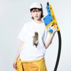 satoの酒好き剥ちゃん Washed T-shirtsの着用イメージ(表面)
