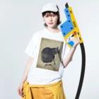 gwakのネコ Washed T-shirtsの着用イメージ(表面)