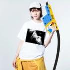KALYAのjellyfish Washed T-shirtsの着用イメージ(表面)
