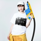 CTRL shopの今回混雑膨らむ This time the crowd swells Washed T-shirtsの着用イメージ(表面)