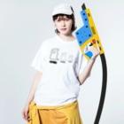 Risa*のかくれんぼ Washed T-shirtsの着用イメージ(表面)