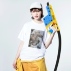 yanagiの花 Washed T-shirtsの着用イメージ(表面)