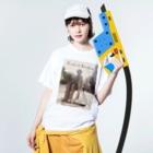 Makworldのフレディー Washed T-shirtsの着用イメージ(表面)