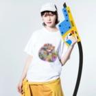 meiroのハリネズミ Washed T-shirtsの着用イメージ(表面)