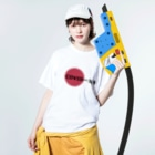 G-HERRING(鰊;鮭;公魚;Tenkara;SALMON)のCOVIDー19 Washed T-shirtsの着用イメージ(表面)