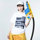 Stella-starのExit Washed T-shirtsの着用イメージ(表面)