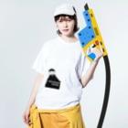 From→syushi.のfrom-syushi.  long long ago hige君 Washed T-shirtsの着用イメージ(表面)