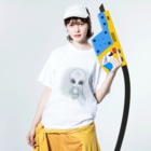 alpacca-creativeのZeta Reticuli(ゼータ・レチクル星人) Washed T-shirtsの着用イメージ(表面)