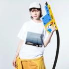 mikamixxxの海岸シリーズ Washed T-shirtsの着用イメージ(表面)