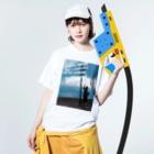 tamagame777のtamage良い言葉シリーズ Washed T-shirtsの着用イメージ(表面)
