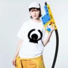 Oshiboriの正解のタコ Washed T-shirtsの着用イメージ(表面)