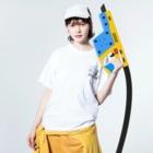 junk-houseのHISHAMASTAR!! (東北弁:ひしゃますた) Washed T-Shirtの着用イメージ(表面)