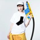 佐藤香苗の足様 Washed T-shirtsの着用イメージ(表面)