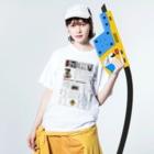 KurumiTamuraのカッパ新聞 Washed T-shirtsの着用イメージ(表面)