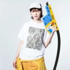 かぉの赤ちゃんタケルくん Washed T-shirtsの着用イメージ(表面)
