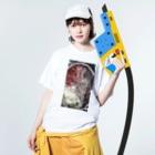 yucchosanの辣油レシピ Washed T-shirtsの着用イメージ(表面)