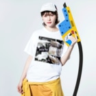 AIぽん太のダンボベタ繁殖✨ Washed T-shirtsの着用イメージ(表面)