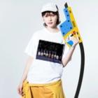 長与 千種 Chigusa Nagayoのマーベルドッグス笠地蔵 Washed T-shirtsの着用イメージ(表面)