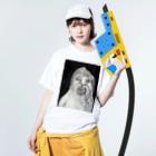 阿蘇パソ魔族ショップの女の子 Washed T-shirtsの着用イメージ(表面)