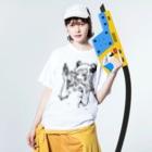 おかっぱ ミユキのセクシーなうしちゃん Washed T-Shirtの着用イメージ(表面)