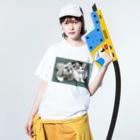 kinako-japanのチャチャちゃんとすももさん Washed T-shirtsの着用イメージ(表面)