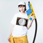 Teatime ティータイムの時間 時計 インテリア Washed T-shirtsの着用イメージ(表面)