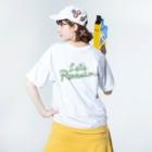 りのくまちゃんのりのくまちゃん グリーンアップる Washed T-Shirtの着用イメージ(裏面)